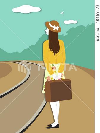 イラスト素材: 運送業者 線路 旅のイラスト