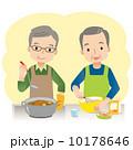 高齢者 人物 料理のイラスト 10178646