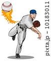 ピッチャー 投手 ピッチングのイラスト 10183011