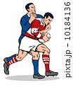 ラグビー フットボール イラストレーションのイラスト 10184136