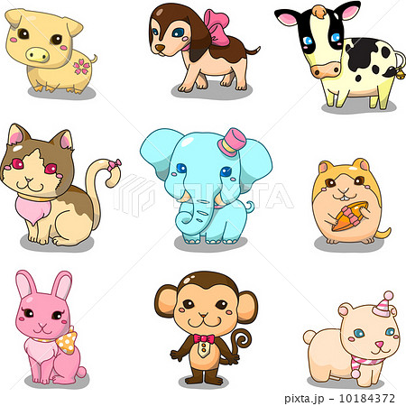 cartoon animal icon 10184372