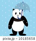 パンダ 傘 雨のイラスト 10185658