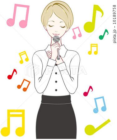 女性 歌のイラスト素材 [10189758] - PIXTA