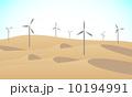 砂漠の風力発電 10194991