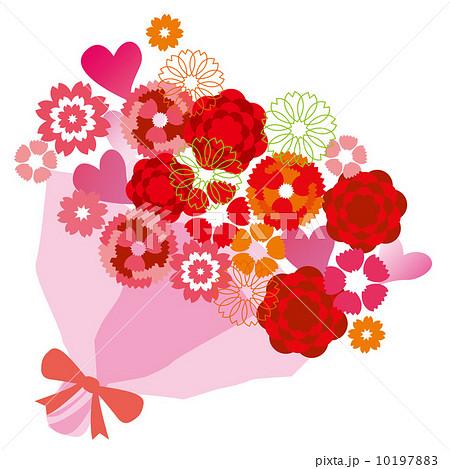 カーネーション花束のイラスト素材 10197883 Pixta