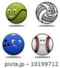 テニス 球 マスコットのイラスト 10199712