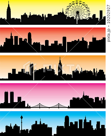 vector city backgroundsのイラスト素材 10202927 pixta