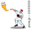 ピッチャー 投手 ピッチングのイラスト 10203030