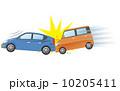 追突 交通事故 衝突のイラスト 10205411
