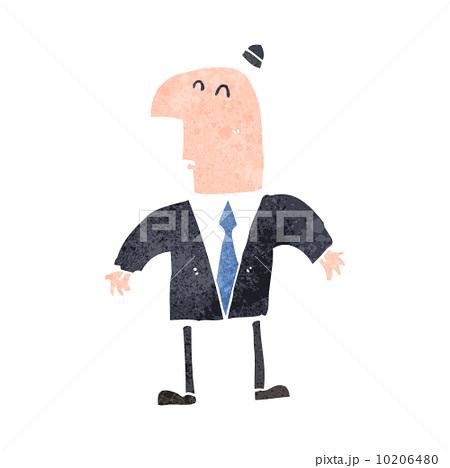 retro cartoon shrugging businessmanのイラスト素材 [10206480] - PIXTA