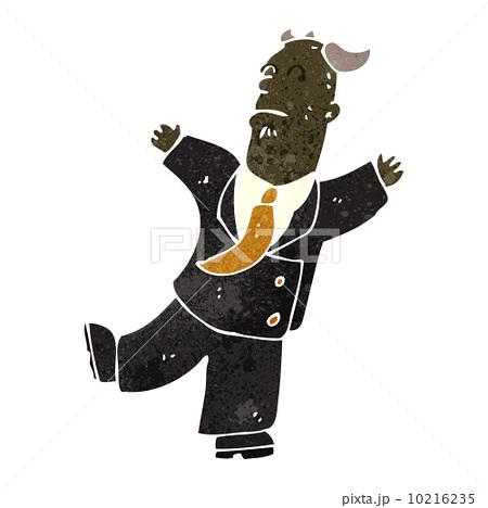 retro cartoon old businessman having a heart attackのイラスト素材 [10216235] - PIXTA