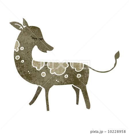 retro cartoon deerのイラスト素材 [10228958] - PIXTA