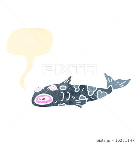 retro cartoon fishのイラスト素材 [10231147] - PIXTA