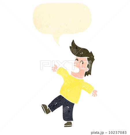 retro cartoon shocked manのイラスト素材 [10237083] - PIXTA