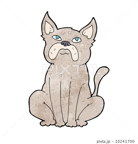 cartoon grumpy little dog 10241700