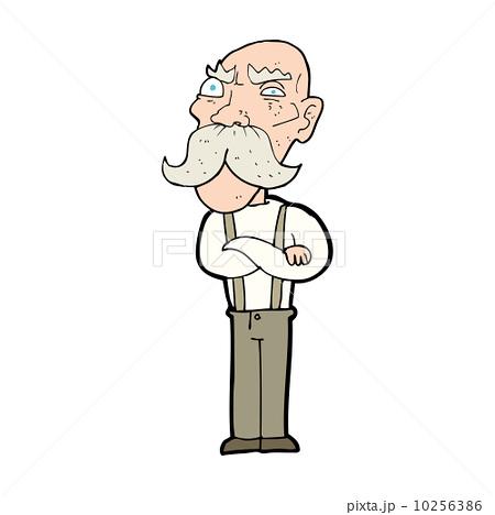 cartoon angry old man 10256386