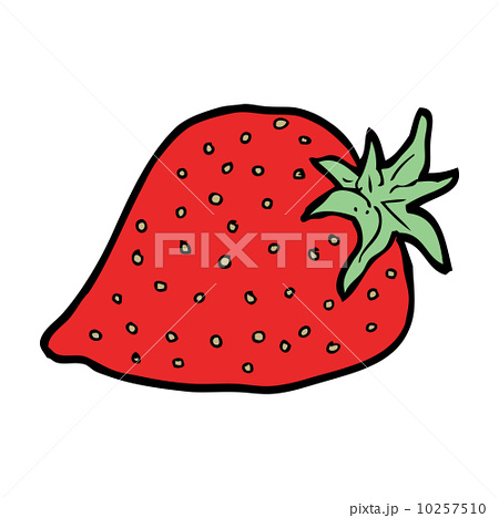 cartoon strawberryのイラスト素材 [10257510] - PIXTA