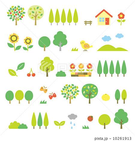 木の素材セット 夏 10261913