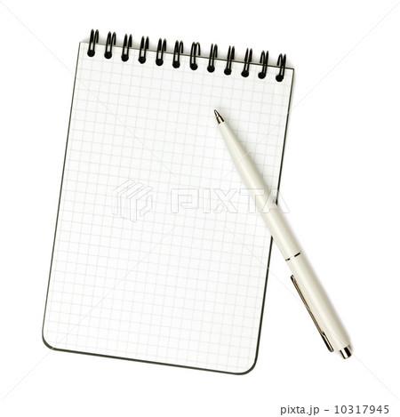 Pen on notepadの写真素材 [10317945] - PIXTA