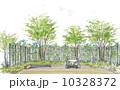 緑に包まれた庭のスケッチ 10328372