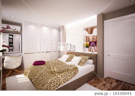 Interior Bedroom in modern styleのイラスト素材 [10330043] - PIXTA
