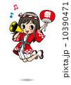 【夏】はしゃぐ女の子【祭り】 10390471