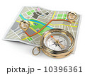 Navigation and gps concept. Compass and map. 10396361