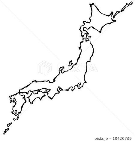 日本地図 手書き 書 筆絵 10420739 : 日本地図ダウンロード無料 : 日本