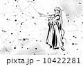 方向を指差す女神と星座 10422281