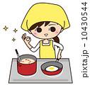 主婦 女性 料理のイラスト 10430544