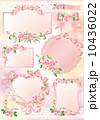 薔薇 リボン 枠 10436022