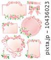 薔薇 リボン 枠 10436023