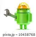 Android with adjustable wrench. Technology concept. 10438768