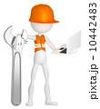 バックグランド 立体 3Dのイラスト 10442483