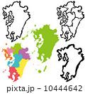 ベクター 地図 九州のイラスト 10444642