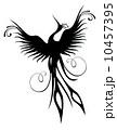 Phoenix bird figure isolated 10457395