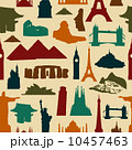 World landmark silhouettes pattern 10457463