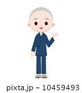 お坊さん 作務衣 人物のイラスト 10459493