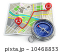 Navigation and gps concept. Compass and map. 10468833