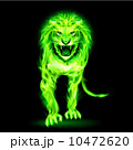 動物 アグレッシブ ライオンのイラスト 10472620