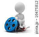 小型 映画 かせのイラスト 10475812