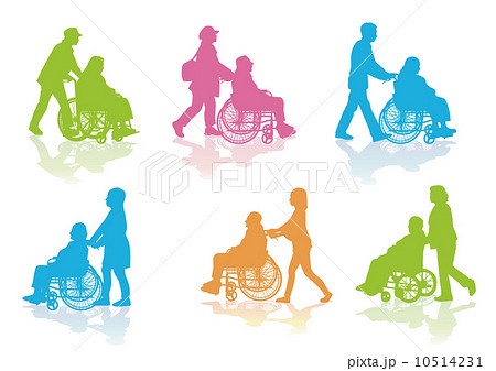 老人 高齢者 車椅子 散歩 10514231