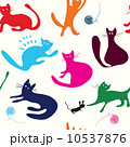 Cats playing seamless pattern funny 10537876