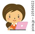 ベクター パソコン 女性のイラスト 10540022