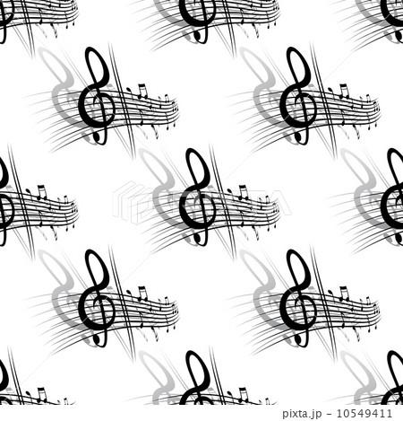 Seamless background music patternのイラスト素材 [10549411] - PIXTA