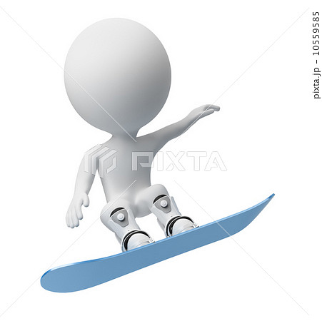 3d small people - snowboard 10559585