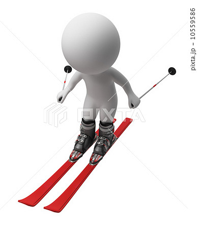 3d small people - skis 10559586