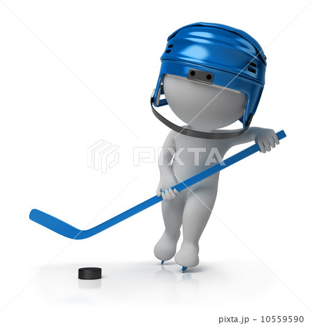3d small people - hockey 10559590
