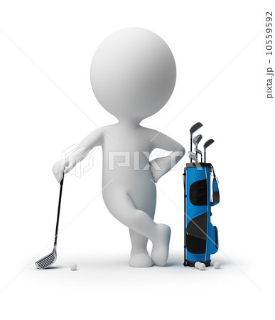 3d small people - golf 10559592