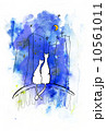 動物 ウィンドウズ ホワイトのイラスト 10561011